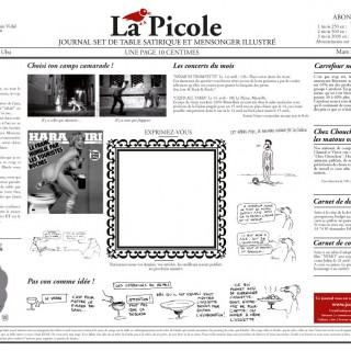 La Picole Journal Satirique set de table