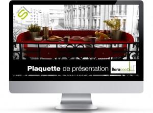 Plaquette commerciale du concept Baracood le mobilier bar pour balcons terrasses